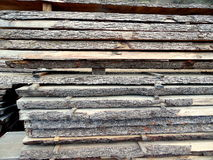 Large Stack of Cut Wood for Lumber Stock Images