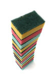 Large Stack of Kitchen Sponges Stock Photos