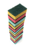 Large Stack of Kitchen Sponges Royalty Free Stock Photography