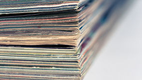 A large stack of magazines Stock Photography
