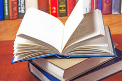 Large stack of open books with blank pages Royalty Free Stock Photo