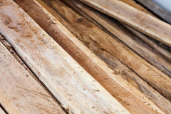 Large stack of wood planks Royalty Free Stock Photo