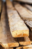 Large stack of wood planks Royalty Free Stock Image
