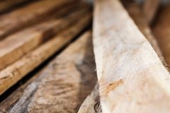 Large stack of wood planks Stock Photography