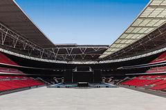 Large stadium empty and clear with stage Stock Photos