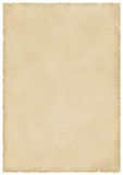 Large Stained Old Paper With Burned And Torn Edges Royalty Free Stock Photo