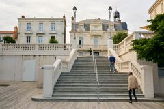 place of resistance in Les Sables d`Olonnes royalty free stock images