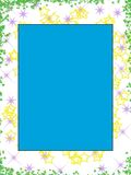 Large Star Border. Stars and blue as a border stock illustration