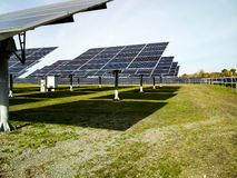 Big solar station on a clear day royalty free stock photography