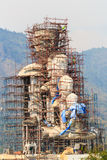 Large statue of buddha is under construction Royalty Free Stock Photography