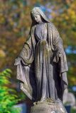 A large statue of Jesus ` mother. stock photos