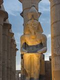 Large statue of Ramses 2nd at Luxor Temple royalty free stock image