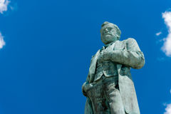 Large statue of Ulysses Grant in Galena Royalty Free Stock Image