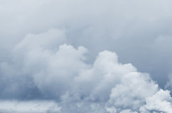 Cloudy background. Large steam clouds on a bluish cloudy background Royalty Free Stock Images