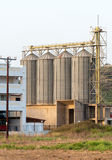 Large steel silos. Stock Photography