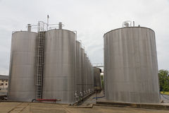 Large steel tank vessels Stock Photos