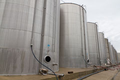 Large steel tank vessels Stock Photo