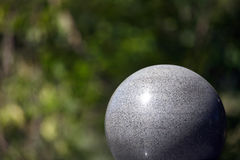 Large Stone ball. Architectural detail large ball background Stock Image