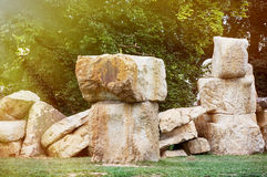 Large stone blocks Stock Photography