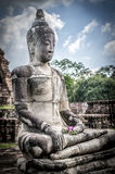 Large stone Buddha statue. At Wat Mahathat, Ayutthaya, Thailand Royalty Free Stock Photos
