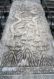 Large stone carving on the territory of the Temple of Heaven Royalty Free Stock Images