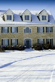 Large Stone House. A large three story house made of stones taken during the winter Stock Image