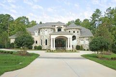 Large Stone House. Large House Stone House With Columns stock image