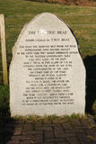 Large stone with information on the Electric Brae Stock Images