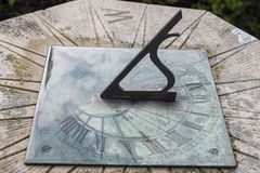A large stone sundial in ireland Royalty Free Stock Photo