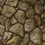 Large stone wall and pavement texture Stock Images
