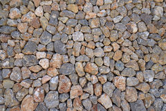 Large stone wall realistic texture Royalty Free Stock Photos