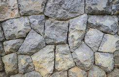 Large stone wall texture and background Royalty Free Stock Images