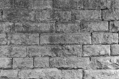 Large Stone Wall Texture. Large Cut Stone Wall Texture in Black and White Stock Photography