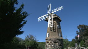 Large stone windmill (3 of 3) stock video footage