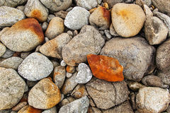 Large stones from above. Large stones of different colors photographed from above royalty free stock photos