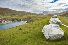 Large stones along the coast at Achill, Co Mayo.  royalty free stock photos