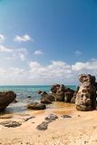 Large stones on the beach Royalty Free Stock Photo