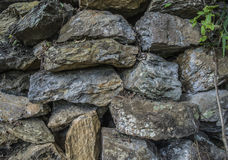 Large stones. Stones for the construction of roads, Myanmar (Burma Royalty Free Stock Photography