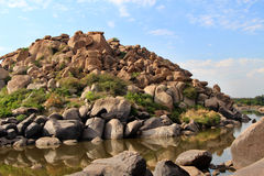 Large stones in Hampi, India Stock Images