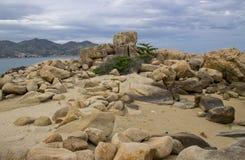 Large stones stock image