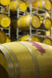 Wine barrel. Large storage of cabernet wine in South Africa Stock Images