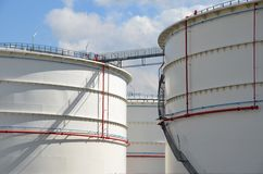 Large storage tanks Stock Photo