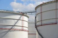 Large storage tanks Stock Photo
