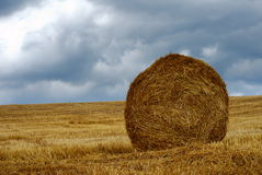 Large straw bale Royalty Free Stock Photos