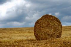 Large straw bale Royalty Free Stock Photos