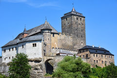 Large and strong gothic medieval castle Royalty Free Stock Photography