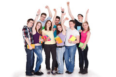 Large students group stock images