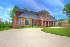 Large Suburban House Stock Photography