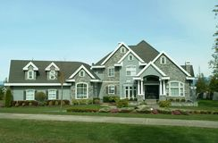 Large Suburban House. Nice home in the suburbs of Vancouver, BC royalty free stock photos