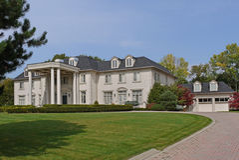 Large suburban house Stock Images